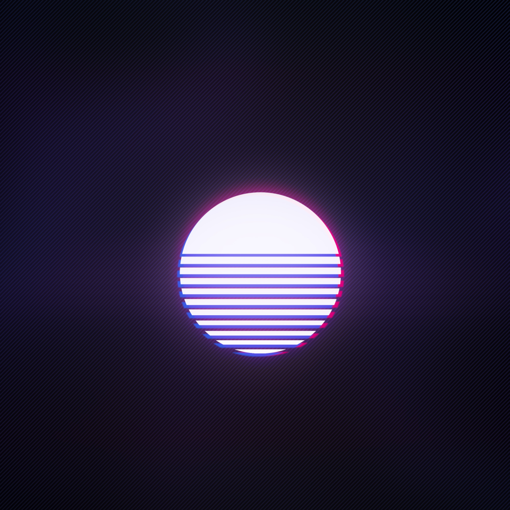Synthwave white sun Forum Avatar | Profile Photo - ID